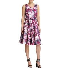 tie-dye fit-&-flare dress