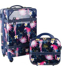 "chariot parrot 2 piece 20"" carry-on and beauty case set"