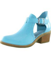 zapato abierto charol blue danicolle