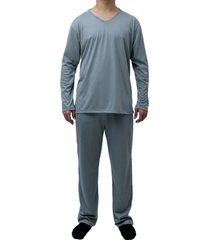 conjunto de pijama longo touro boots masculino cinza - kanui