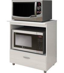 balcão p/ forno e microondas branco completa móveis