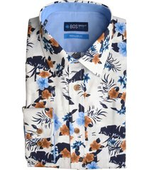 bos bright blue blue willem shirt casual ws 20107wi12bo/830 camel bruin