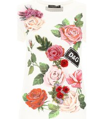dolce & gabbana t-shirt with embroidered flowers