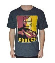 camiseta code iron masculina