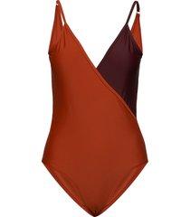 origz swimsuit ao19 baddräkt badkläder orange gestuz