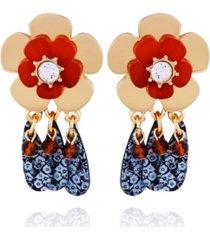 nanette nanette lepore flower drop earring