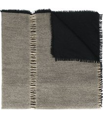 uma wang distressed details scarf - black