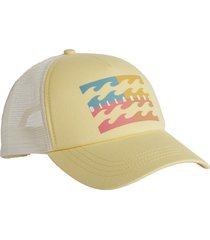 women's billabong aloha forever baseball cap - yellow