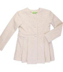 casaco l㣠alfaiataria gingga baby e kids pã©rola juliette bege - bege - menina - l㣠- dafiti