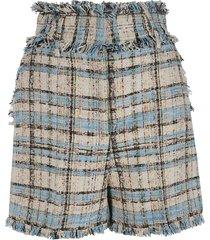 msgm fringed detail shorts