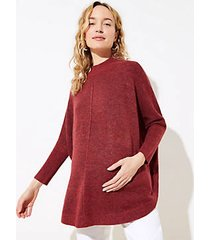 loft maternity turtleneck poncho sweater