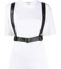 junya watanabe harness faux-leather top - white