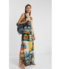 eco beach dress, with exotic landscapes - material finishes - xl
