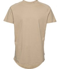 jjecurved tee ss o-neck noos t-shirts short-sleeved beige jack & j s