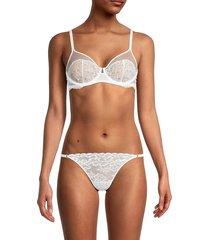 la perla women's lace underwire bra - white - size 36 b