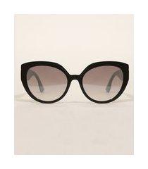 óculos de sol feminino gatinho yessica preto