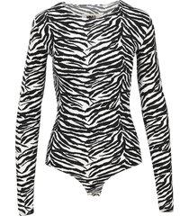 mm6 zebra bodysuit