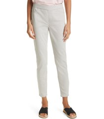 eileen fisher stretch denim leggings, size xx-small in cement at nordstrom