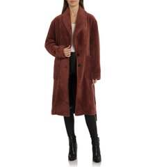 avec les filles tie waist coat, size small in rust at nordstrom