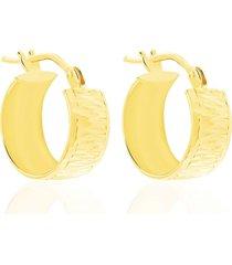orecchini a cerchio in oro giallo liscio 10 mm per donna