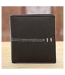 leather wallet, 'dotted road' (india)