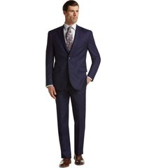 jos. a. bank men's traveler collection tailored fit suit separate jacket - big & tall, bright navy, 28 shrt pnt