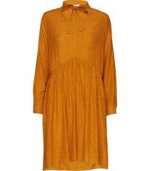 dhselma oak dress jurk knielengte oranje denim hunter