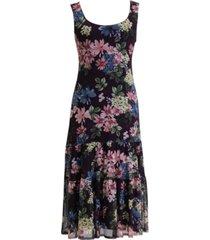 connected sleeveless drop-waist tiered dress