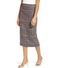 women's halogen tweed pencil skirt, size 18 (similar to 16w) - black