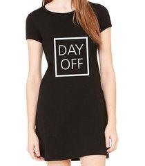 vestido criativa urbana estampado frases day off
