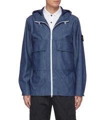 chambray 3l hooded jacket