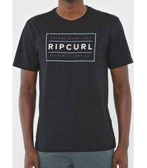 camiseta rip curl stretched out preta masculina