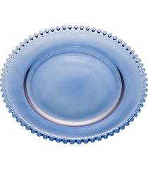 sousplat cristal pearl azul 32cm