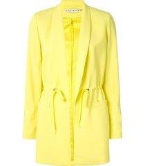 alice+olivia drawstring waist jacket - yellow