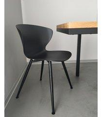 k46 krzesło do nowoczesnych wnętrz czarne