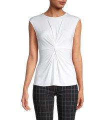 bailey 44 women's hypnotic twist-front top - white - size s