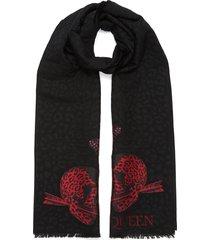 leopard skull scarf