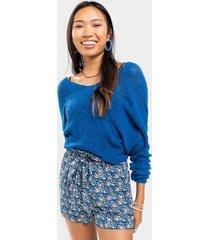 melle geo print shorts - blue