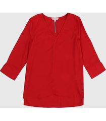 blusa rojo tommy hilfiger