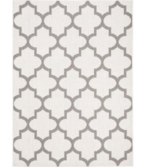 "safavieh bermuda ivory and gray 5'3"" x 7'6"" area rug"