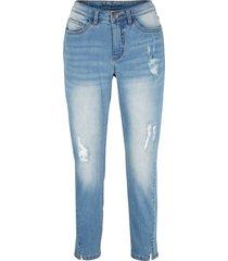 jeans elasticizzati cropped (blu) - john baner jeanswear