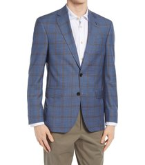 ted baker london jay trim fit windowpane wool sport coat, size 40 short in blue at nordstrom