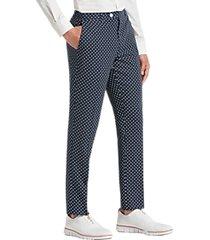 paisley & gray slim fit suit separates pants navy & white polka dot