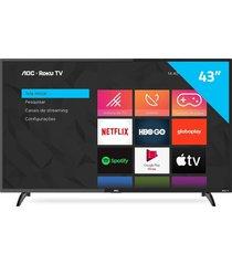 "smart tv aoc roku 43"", full hd led 43s5195/78g, wi-fi integrado"
