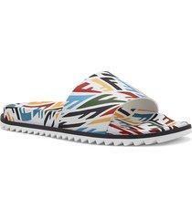 x sarah coleman multicolored slide sandals