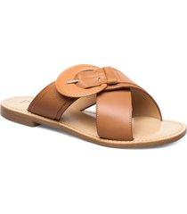 buckle luxury sandal shoes summer shoes flat sandals brun apair