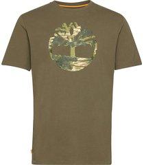 ss ft tree tee t-shirts short-sleeved grön timberland