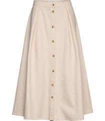 rowena skirt 12672 knälång kjol creme samsøe samsøe