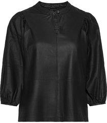 top blouse lange mouwen zwart depeche