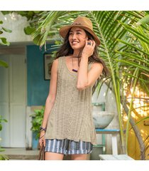 saybrook cable knit tank top